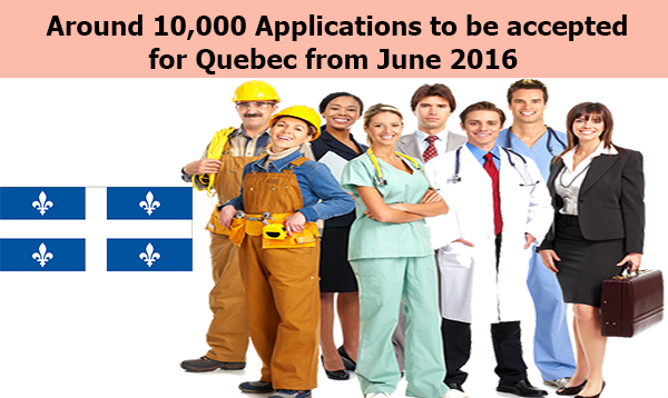 Around 10,000 Applications to be accepted For Quebec from June 2016