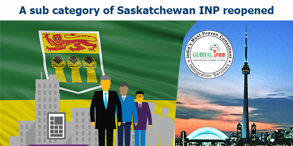 A sub category of Saskatchewan INP reopened